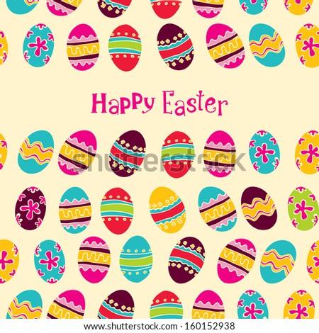 Happy easter background. easter egg - stock vector