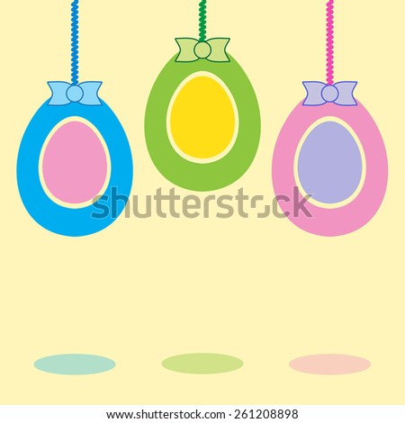 Happy Easter background with eggs. - stock vector
