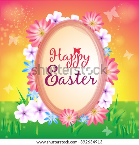 Happy Easter Card Design Vector 392634913 Shutterstock – Easter Card Designs
