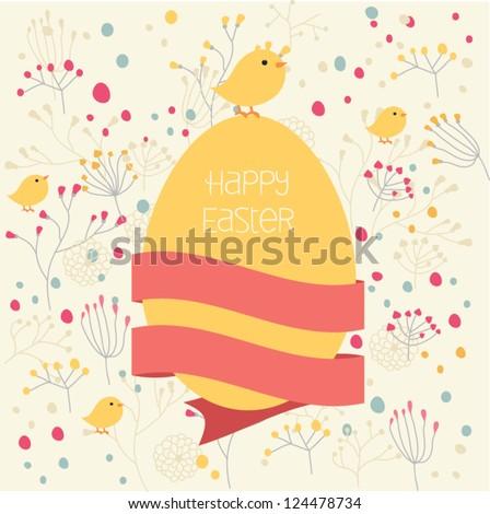 Happy Easter Card. Vector element - stock vector