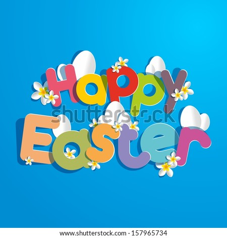 Happy Easter card vector illustration - stock vector