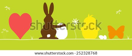Happy easter cards - stock vector