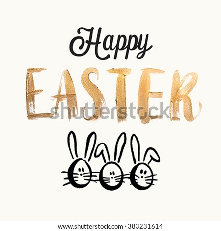 Happy easter cards. Vector illustration. - stock vector