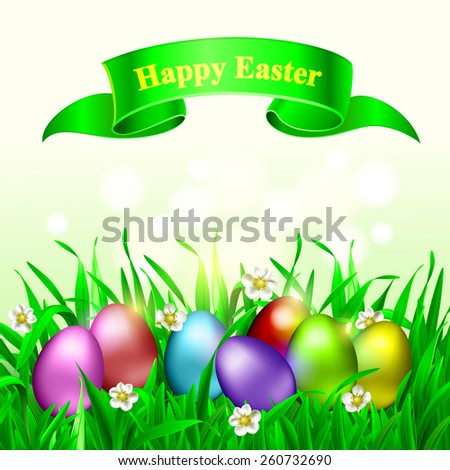 Happy easter. Colorful eggs. Vector Eps 10. - stock vector