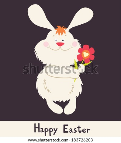 happy easter cute bunny