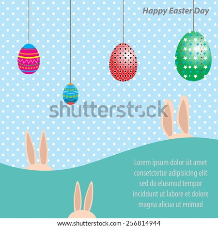 Happy Easter Day - stock vector