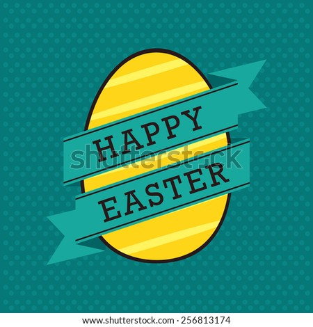 Happy Easter decorative greeting card - stock vector