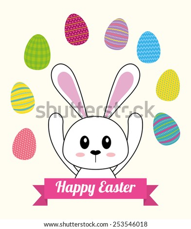 happy easter design, vector illustration eps10 graphic  - stock vector