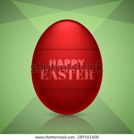 Happy easter egg design for holiday greeting cards, banners and other creative designs.Editable vector with several layers.Eps 10 - stock vector