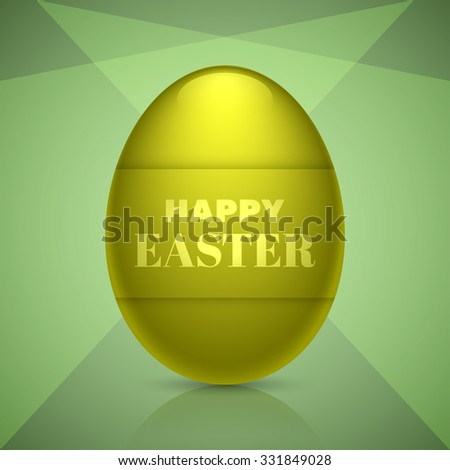 Happy easter egg design for holiday greeting cards, banners and other creative designs.