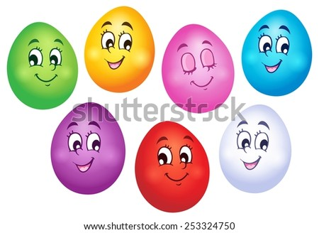 Happy Easter eggs collection 1 - eps10 vector illustration. - stock vector