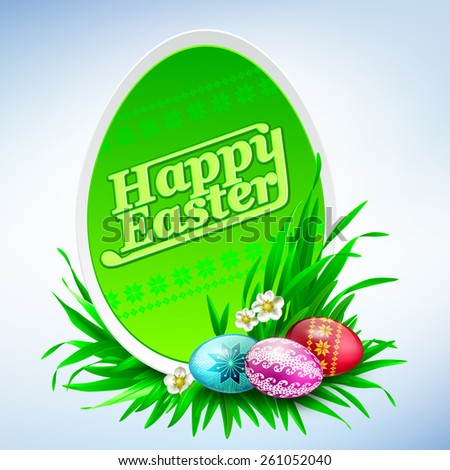 Happy Easter greeting card background. Vector eps 10. - stock vector