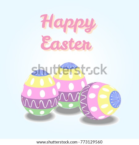 Happy easter greeting cards easter eggs stock vector royalty free happy easter greeting cards with easter eggs or display vector poster m4hsunfo