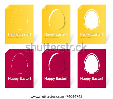 Happy Easter holiday cards set - stock vector