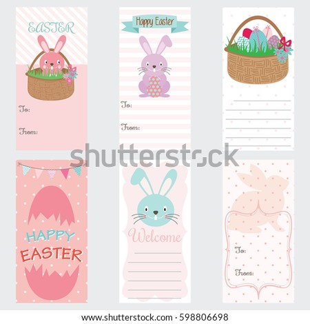 Easter gift stock images royalty free images vectors shutterstock happy easter invitation cardeaster gift tagseaster bunny easter greetings negle Choice Image