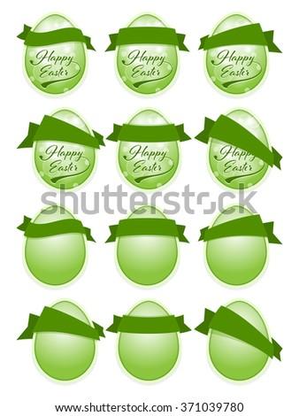 Happy Easter label - stock vector