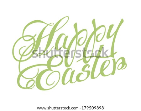 Happy Easter lettering. Vector illustration. - stock vector