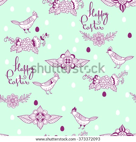 Happy Easter. seamless pattern