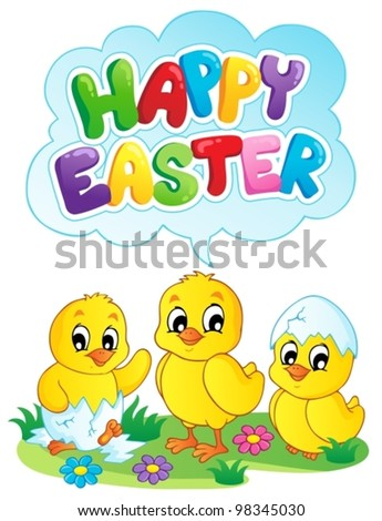 Happy Easter sign theme image 5 - vector illustration. - stock vector