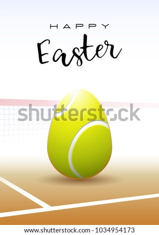 Happy easter sports greeting card realistic stock vector 1034954173 sports greeting card a realistic easter egg in the shape of a m4hsunfo