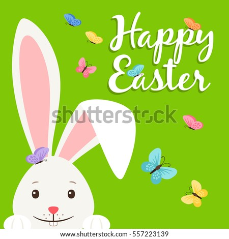Happy Easter Vector Elements Banner White Stock Vector ...