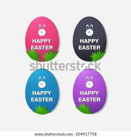 Happy Easter. Vector. Eps 10. Isolated illustration icon