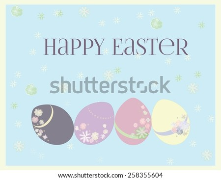 Happy easter vector greeting card. - stock vector