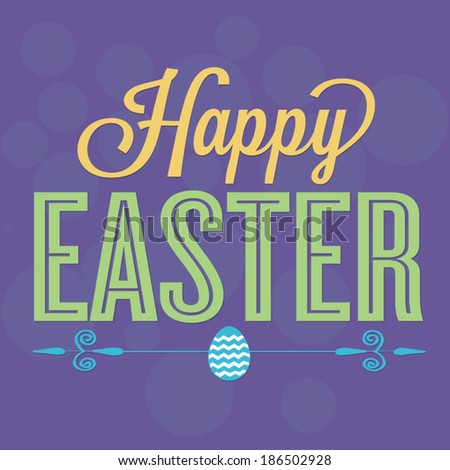 Happy Easter Vector with Easter Egg - stock vector
