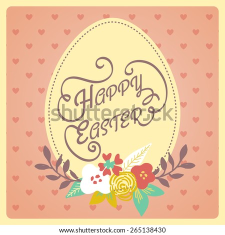Happy easter vintage style easter greeting stock vector 265138430 vintage style easter greeting card retro easter postcard hand lettering style m4hsunfo