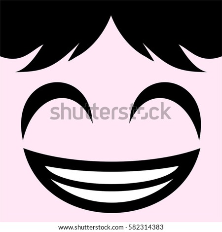 happy face draw stock vector 582314383 shutterstock