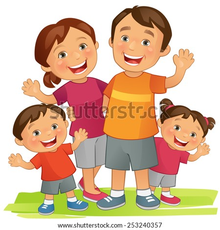Healthy Family Clipart