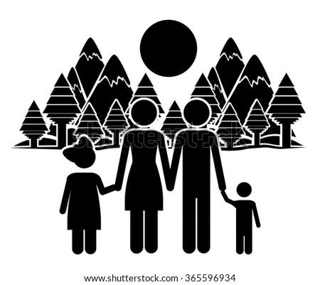 happy family design  - stock vector