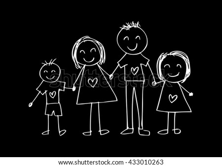 Family Drawing Stock Images Royalty-Free Images U0026 Vectors | Shutterstock