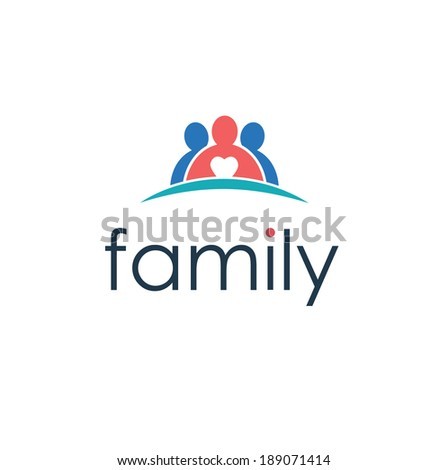 happy family icon - stock vector