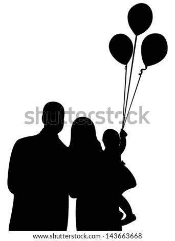 happy family portrait - stock vector