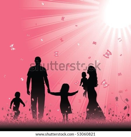 Happy family. Vector illustration - stock vector