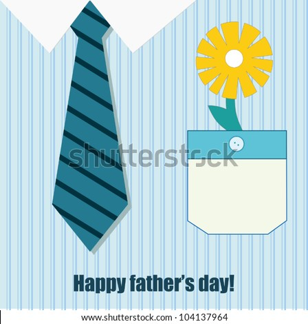 happy father day greeting card - stock vector