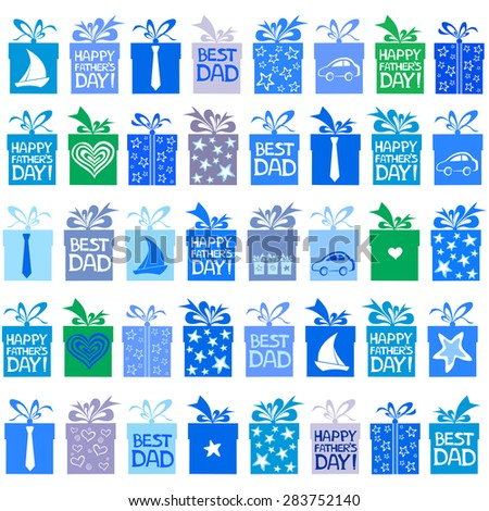 Happy father day. Seamless wallpaper. Vector Illustration.  - stock vector
