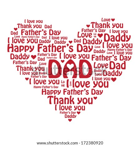 Happy Father's Day - stock vector