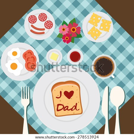 Happy Father's Day. - stock vector