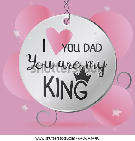 happy fathers day card daughter stock vector royalty free