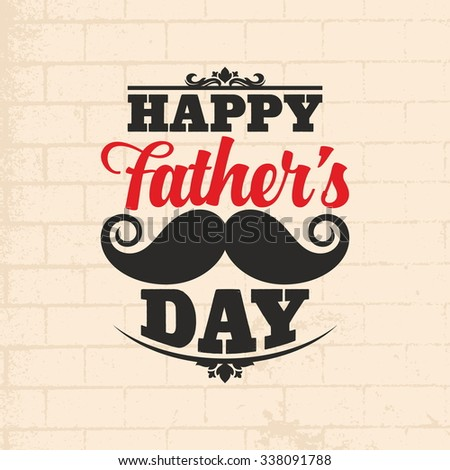Happy Father's Day design card