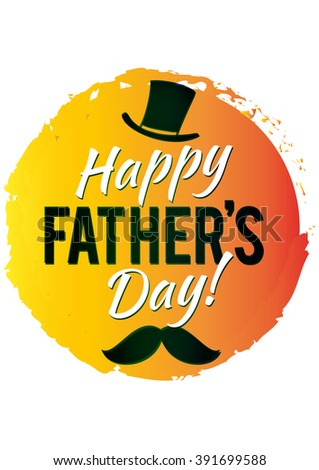Happy Father's Day Design  vector. An illustration of  style Father's Day Designs on the light background