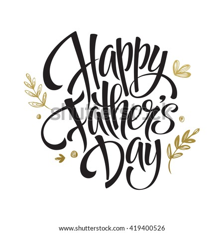 Happy fathers day greeting card stock vector 419400526 shutterstock happy fathers day greeting card m4hsunfo Image collections