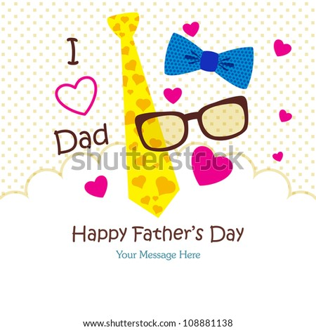 Happy Father's Day Greeting Card / Tie Design