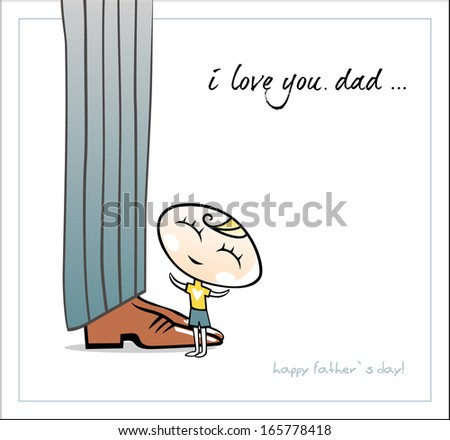 Happy father`s day. Vector - stock vector