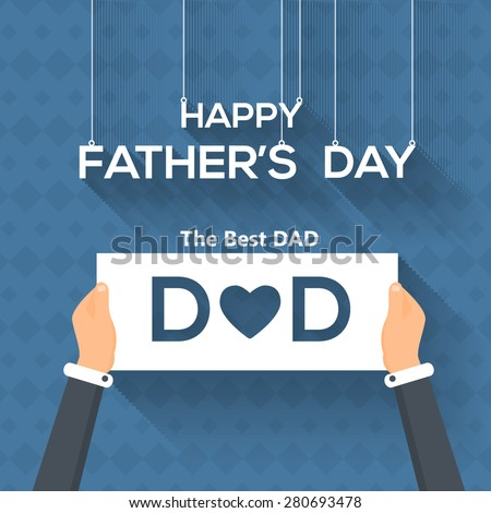 Happy Father's Day Vector Design. Hanging Letters, Announcement and Celebration Message Poster, Flyer - stock vector
