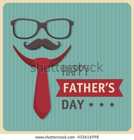 happy fathers day design  - stock vector