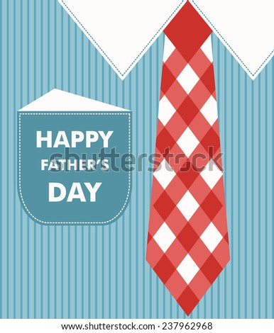 happy fathers day greeting card. vector illustration - stock vector
