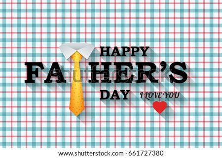 Happy Fathers Day greeting with tie design.